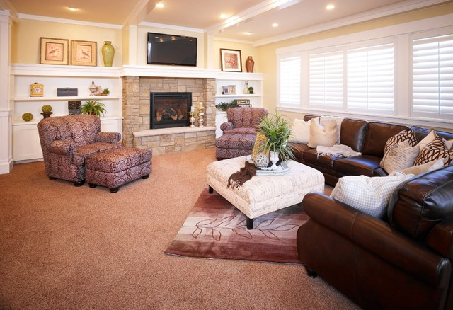 Basement Family Room traditional family room