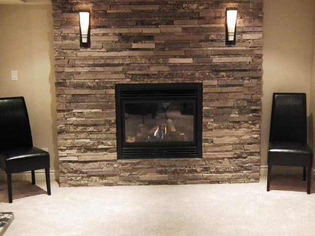 Basement Fireplace Design Amp Renovation Aurora Estate Home