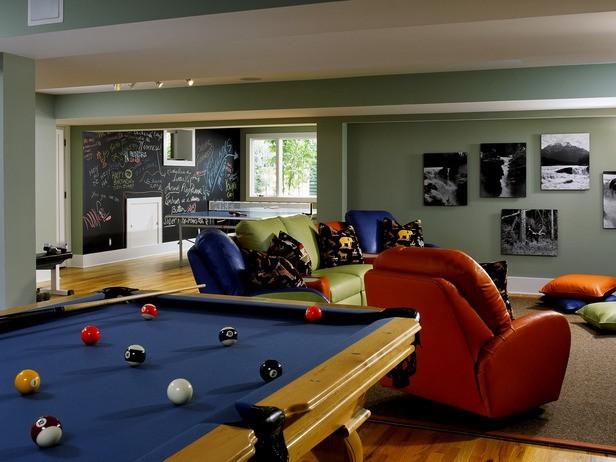 basement fun room modern-family-room
