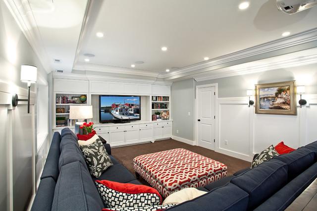 Basement modern-family-room