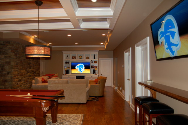 Basement MediaGame Room Chatham NJ Traditional Family Room - Basement game rooms