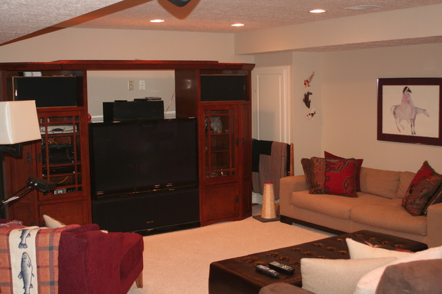 Basement Projects traditional-family-room