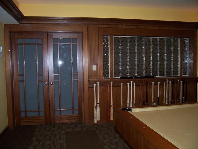 Basement renovation traditional-family-room