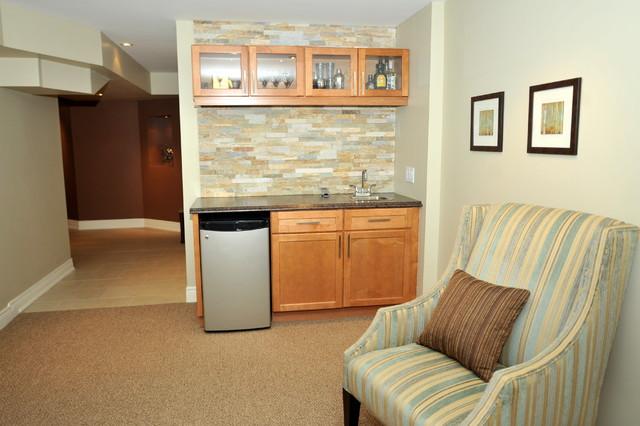 basement transitional family room - photo #19