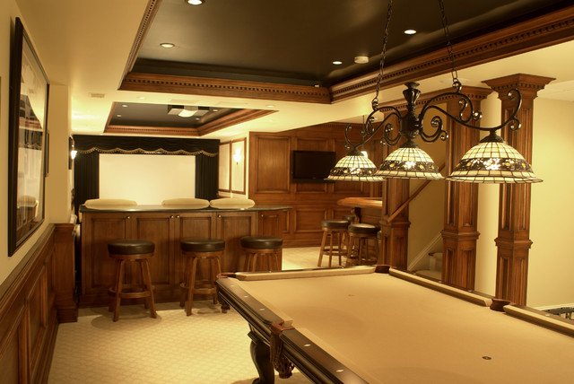 Ideal Entertainment Basement traditional-home-theater