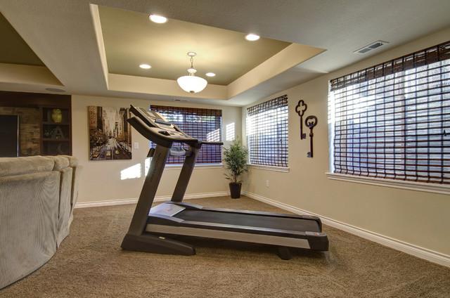 basement workout area traditional basement denver by finished