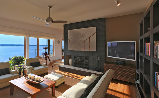 Bay House Contemporary Family Room Dc Metro By