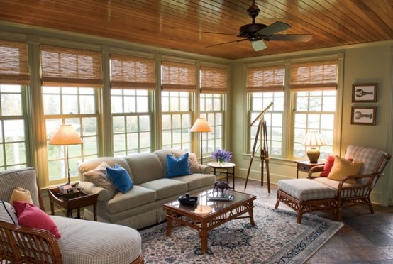 Beach House Decor Traditional Family Room