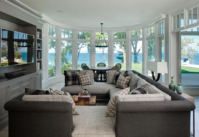 Beach House beach-style-family-room