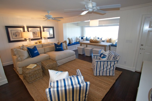 Beach House Two transitional-family-room