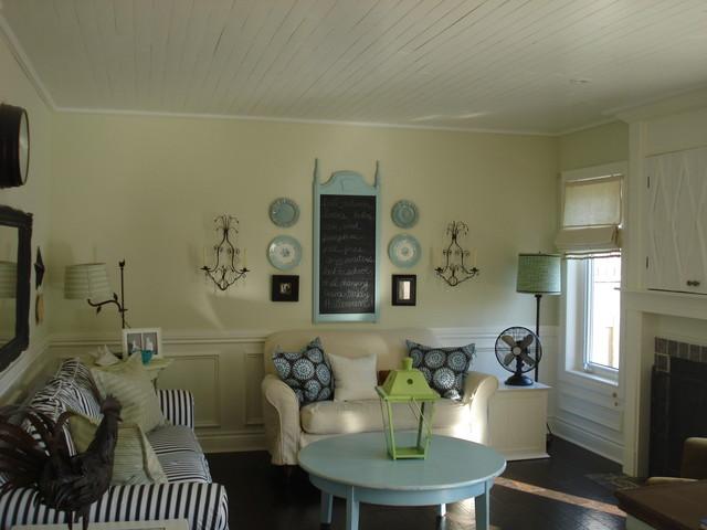 Beadboard  family room traditional-family-room