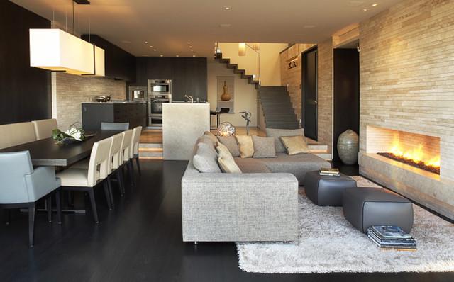 Beck Residence - family room modern-family-room