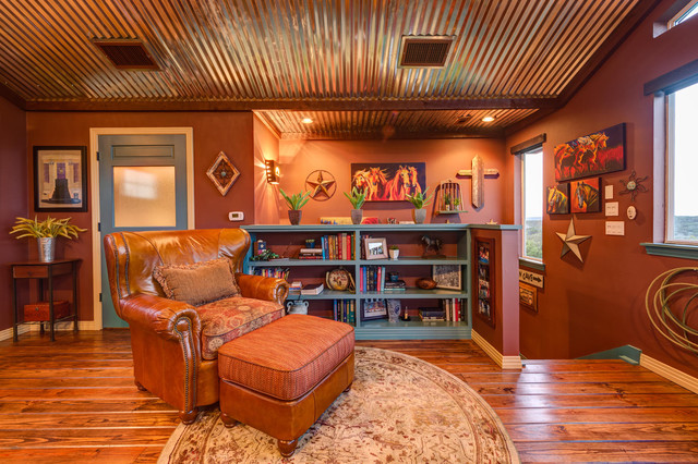 Bee Cave TX Remodel - Southwestern - Family Room - austin - by Agave Custom Homes