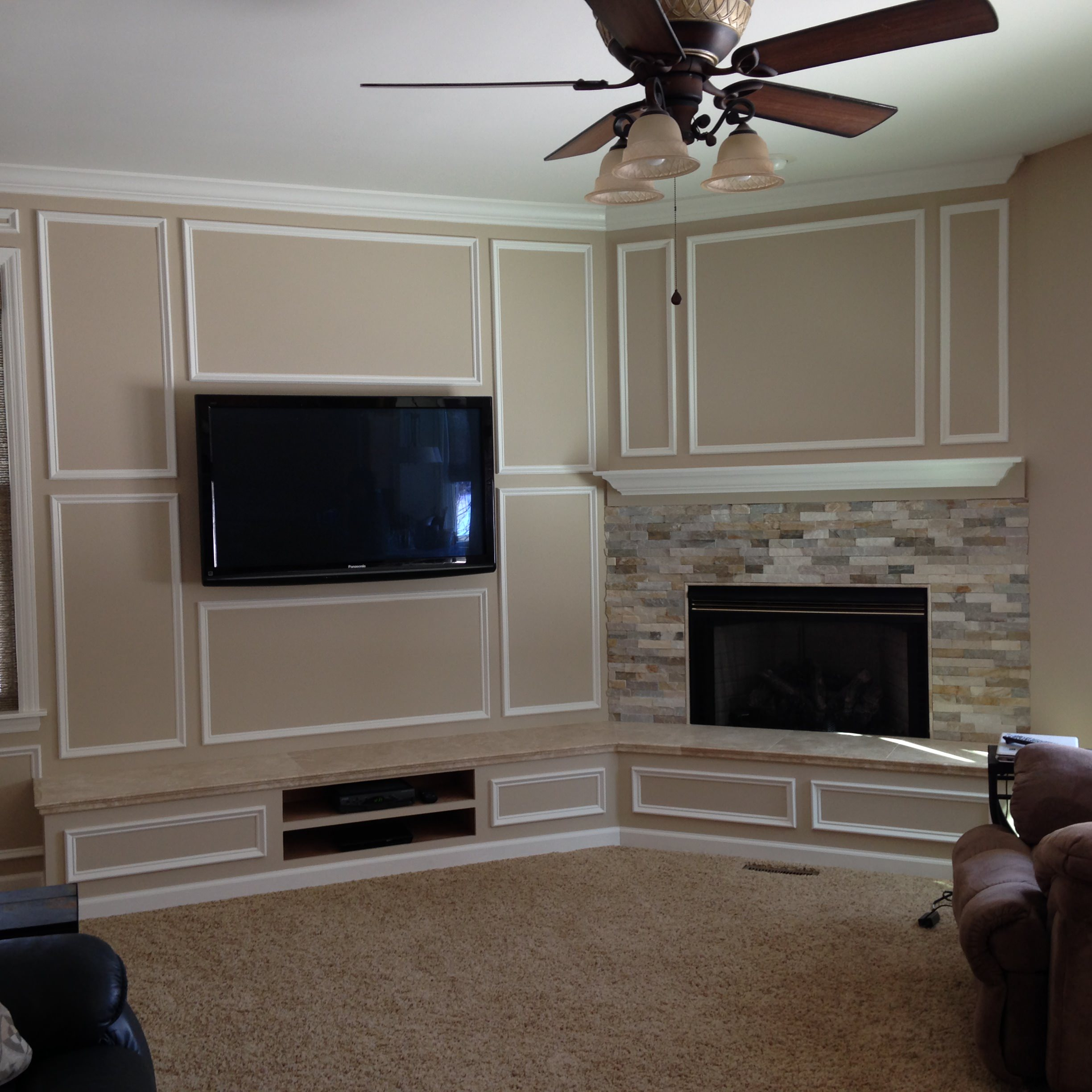 Before and After Media Wall/Fireplace