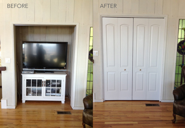 Before and After Transformations modern-family-room