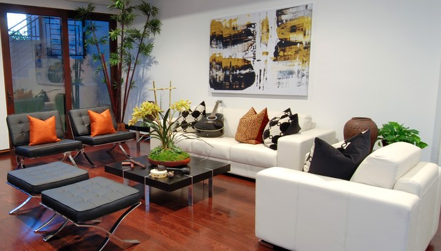 Inspiration for a modern family room remodel in Los Angeles