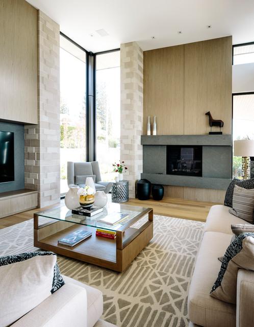 Bellevue Avenue Home contemporary-family-room