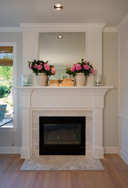 Bensen St Mantel Transitional Family Room Portland