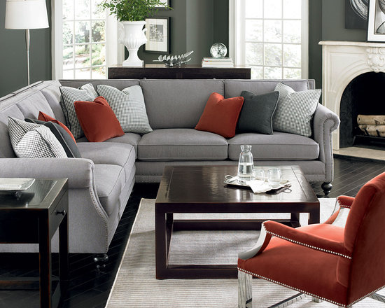 Bernhardt (Vendors) - Bernhardt Furniture: Brae Sectional, Jace Chair, Brunello Cocktail Table, Side Table and Console