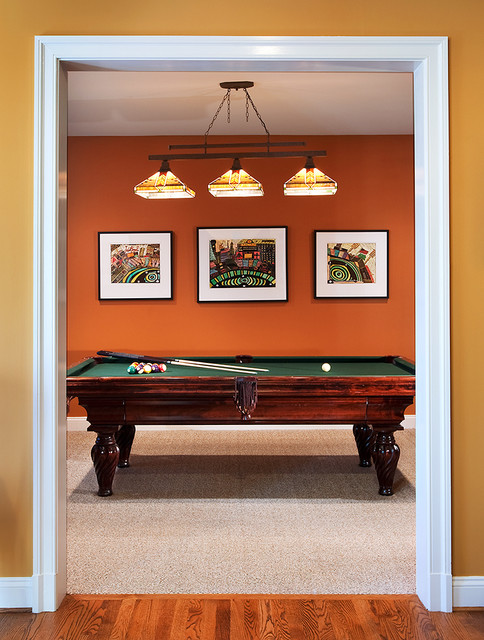 Bethesda Home Celebrating Vibrant Color and Pattern traditional-family-room