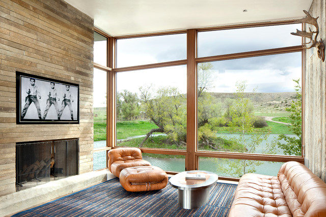Big Timber Residence contemporary-family-room