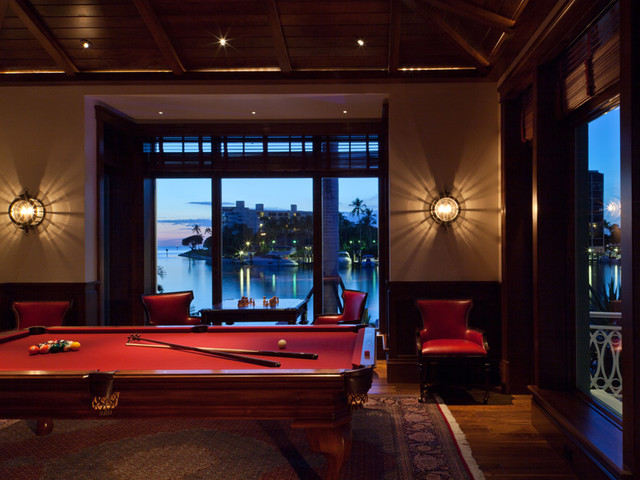 Billiard room game room traditional family room - Family game room ideas ...