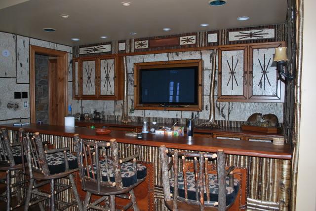 Birch Bark Bar traditional-family-room