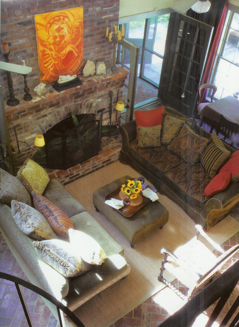 Birdseye view of Living area eclectic family room