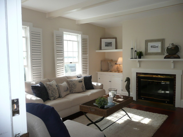 Blaney Circle, Swampscott, MA - Beach Style - Family Room - boston - by BK Classic Collections ...