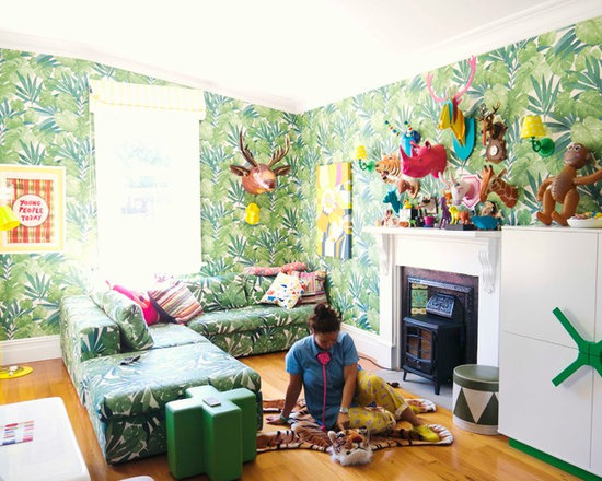 Ginko Leaf Wallpaper Home Design Ideas, Pictures, Remodel and Decor