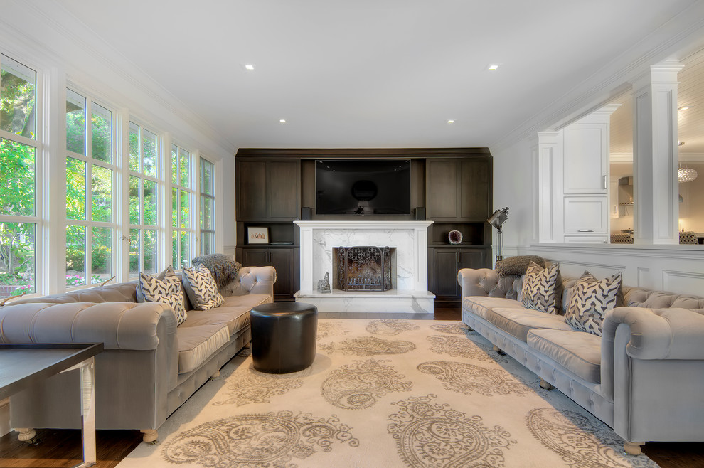 Inspiration for a contemporary family room remodel in San Francisco