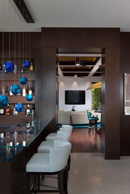 Boca Raton, FL tropical-family-room