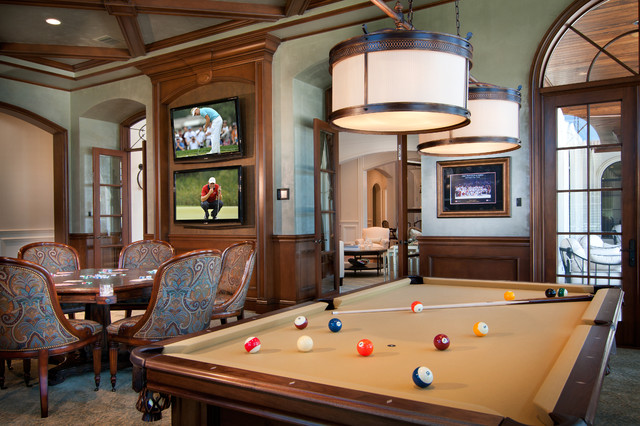 Boca raton intracoastal estate traditional family room - Living room movie theater boca raton ...