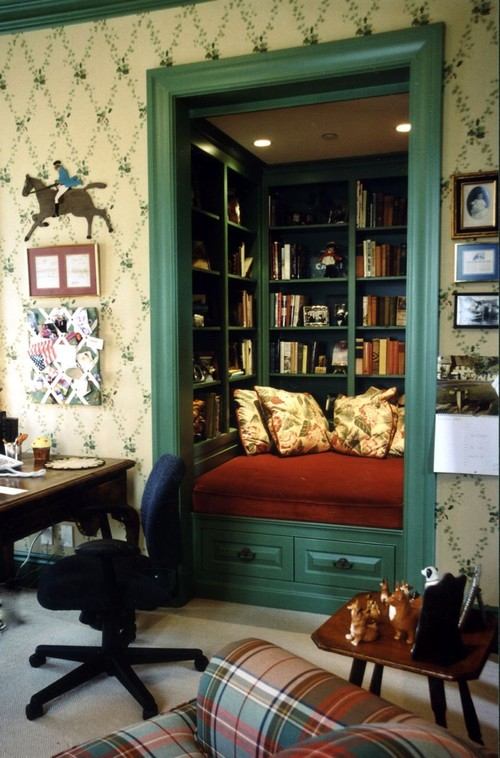 traditional family room 7 Brilliant Ways to Reinvent A Spare Closet