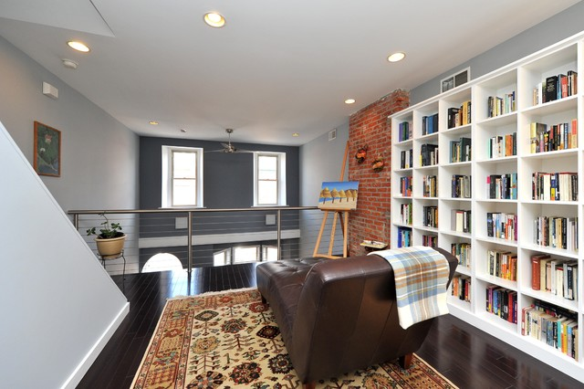 Bookcase Contemporary Family Room Philadelphia By