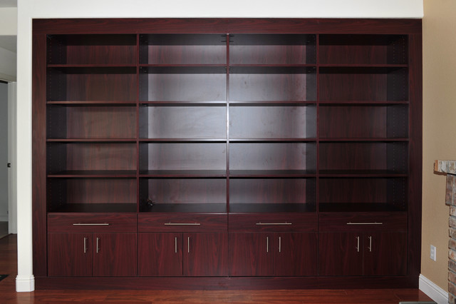 BOOKCASE IN AFRICAN WALNUT MAY 2011 modern-family-room