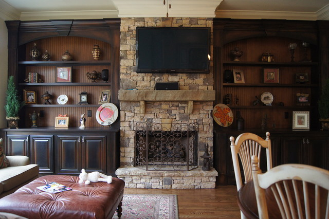 Bookcases And Fireplace Mantels Traditional Family Room