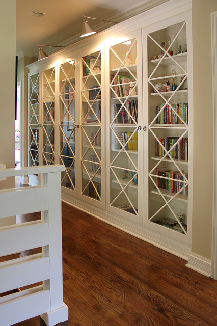 Bookcases transitional-family-room