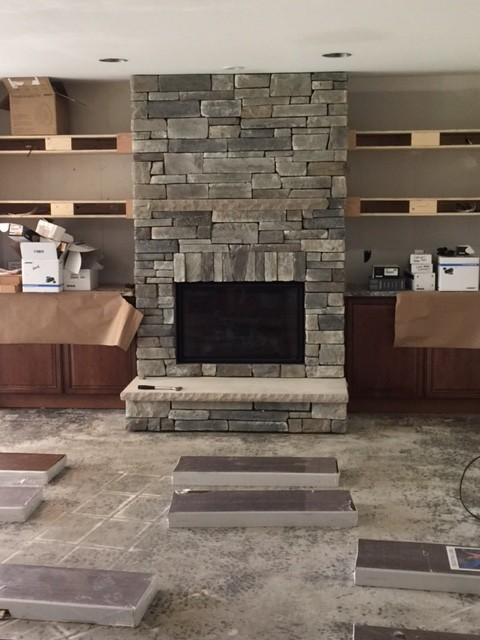 Boral Cultured Stone Country Ledgestone Family Room