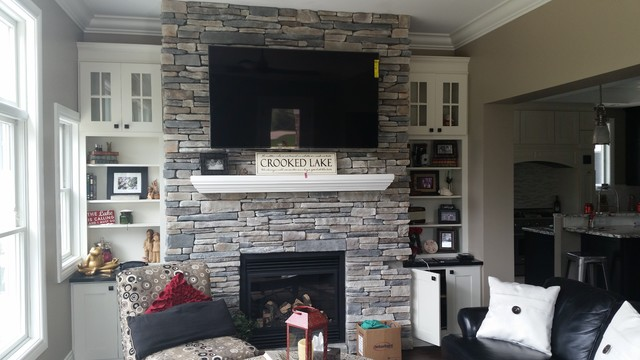 Boral Cultured Stone - Southern Ledgestone - Family Room - Detroit ...