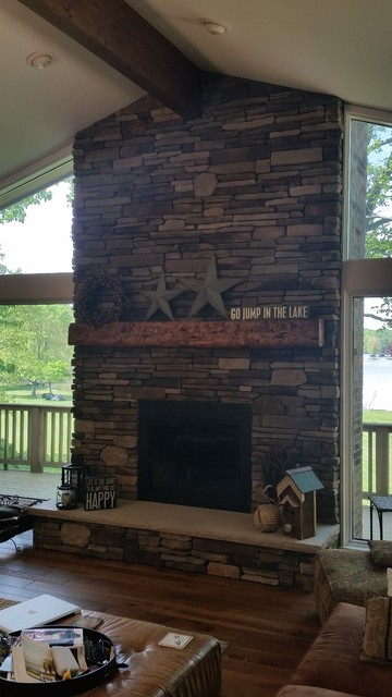 Boral Cultured Stone Southern Ledgestone Family Room