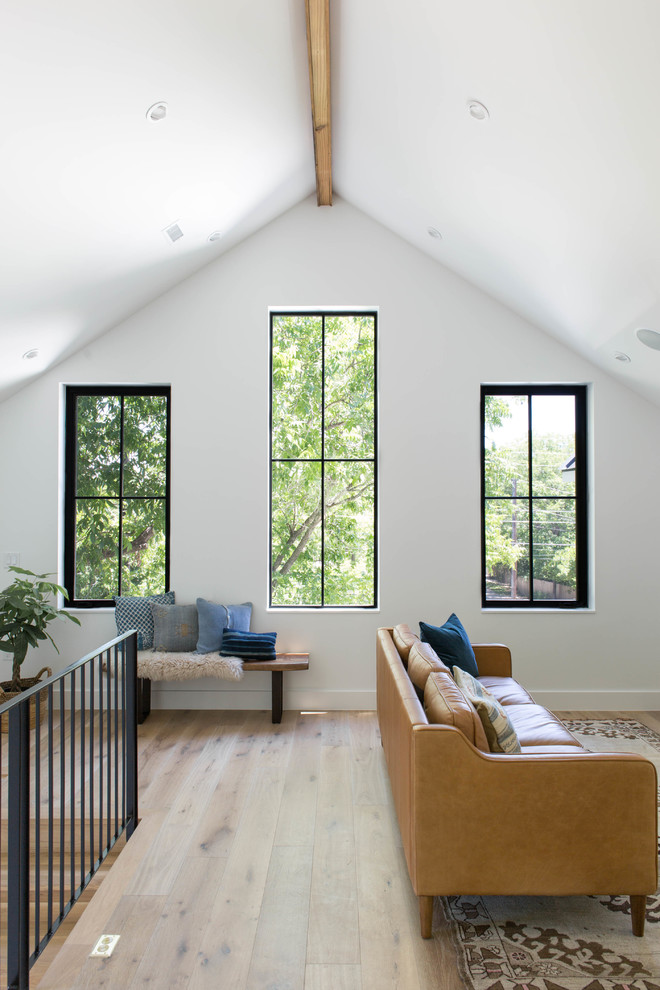 Inspiration for a cottage family room remodel in Austin