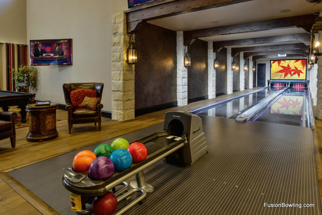 Bowling Lanes For Texas Residence Traditional Family