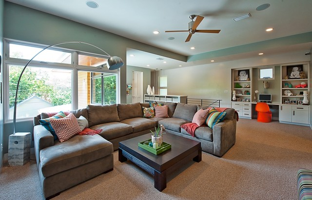 Bowman, Greenbelt Homes, Austin TX contemporary family room