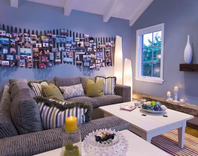 Breakers Beach House beach-style-family-room