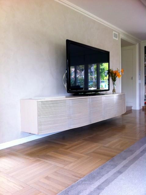 Brentwood AV cabinet contemporary-family-room