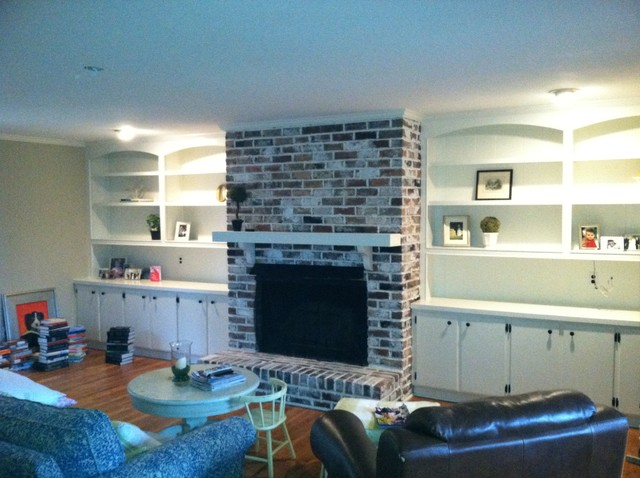 Brick Fireplace whitewash traditional family room. Brick Fireplace whitewash   Traditional   Family Room   Charlotte
