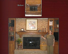 Brick Staining Project, Hoffman Estates, IL traditional-family-room
