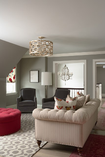 Glitzy-Glam meets Farmhouse-Chic  family room