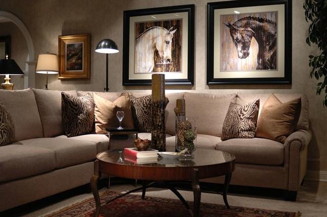 Henredon Fireside Sectional contemporary-family-room : family sectional - Sectionals, Sofas & Couches